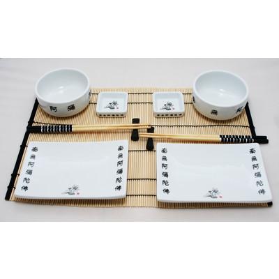 Dwuosobowy biały zestaw do sushi