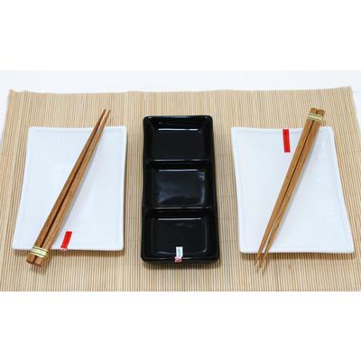Biało-czarny zestaw do sushi