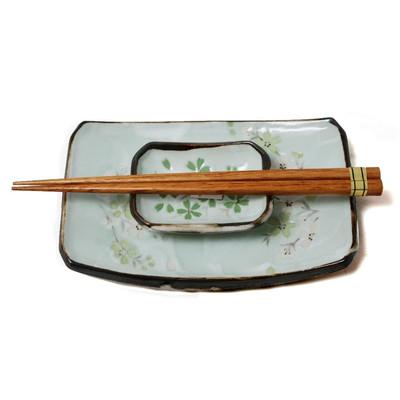 Zielony japoński zestaw do sushi