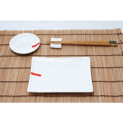 Biały orientalny zestaw do sushi
