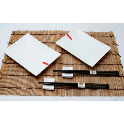 Biały porcelanowy zestaw do sushi