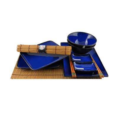 Duży zestaw do sushi Blue Cobalt