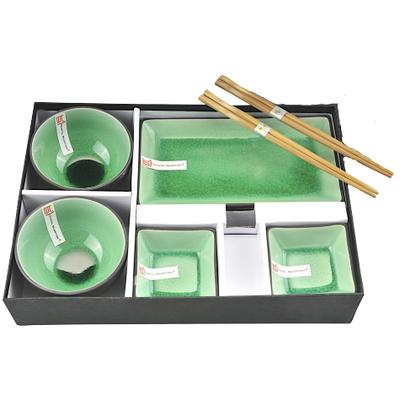Zielony orientalny zestaw do sushi