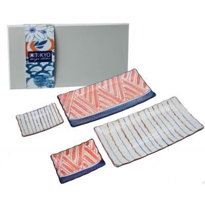 Orientalny porcelanowy zestaw do sushi
