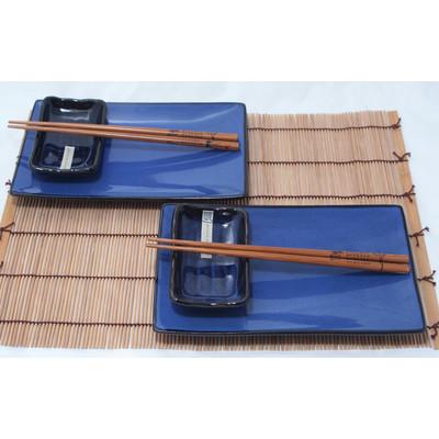 Kobaltowy 2 osobowy zestaw do sushi