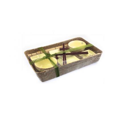 Kremowy 2 osobowy zestaw do sushi