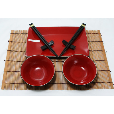 2 osobowy zestaw do sushi Oxblood Red